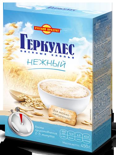 """ОВСЯНЫЕ ХЛОПЬЯ """"ГЕРКУЛЕС"""" НЕЖНЫЙ"""