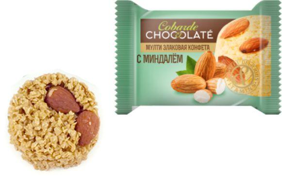 Конфеты Батончик мультизлаковый COBARDE EL CHOCOLATE с миндалем
