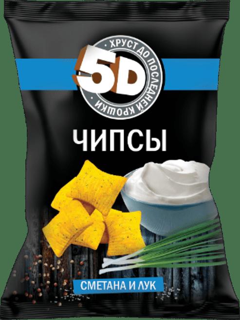 """Чипсы пшеничные со вкусом """"СМЕТАНА И ЛУК"""""""