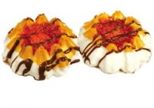 """Печенье сдобное с прослойками, начинками  и отделкой в кондитерской глазури  """"Мандаринка"""""""